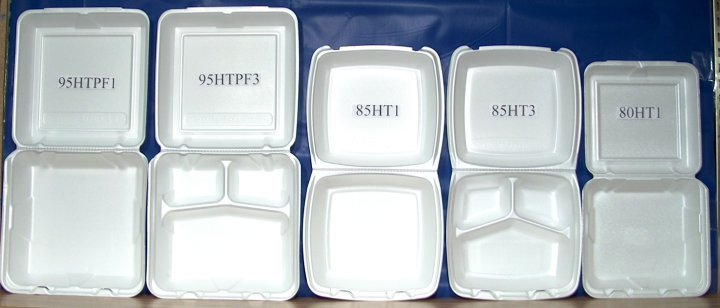 Styrofoam Hinged Lid Containers Cash And Carry Paper Co