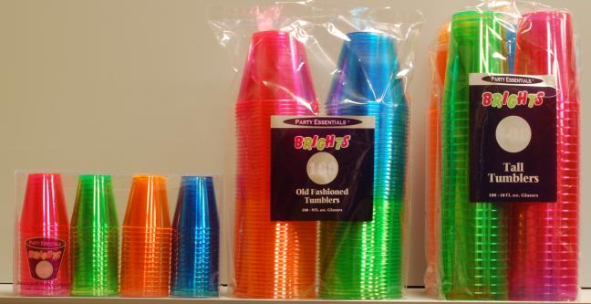 & NEON CLEAR PLASTIC CUPS | Cash and Carry Paper Co. Indianapolis